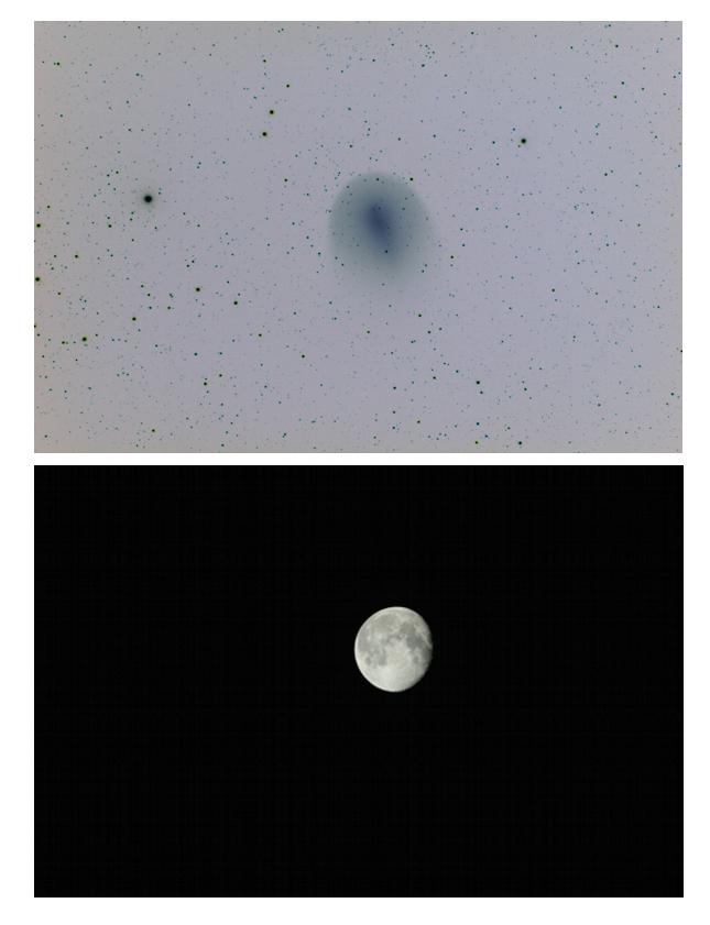 Confronto di dimensioni cometa Holmes e Luna