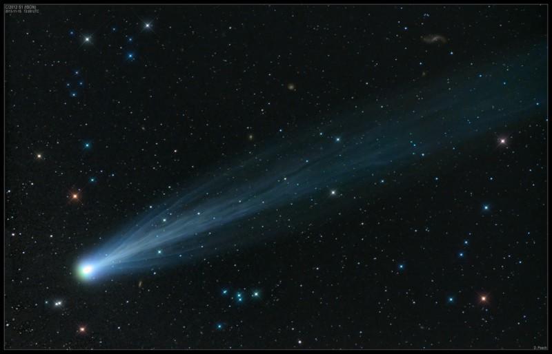 Cometa ISON 2012C ripresa dall'astrofilo inglese Damian Peach